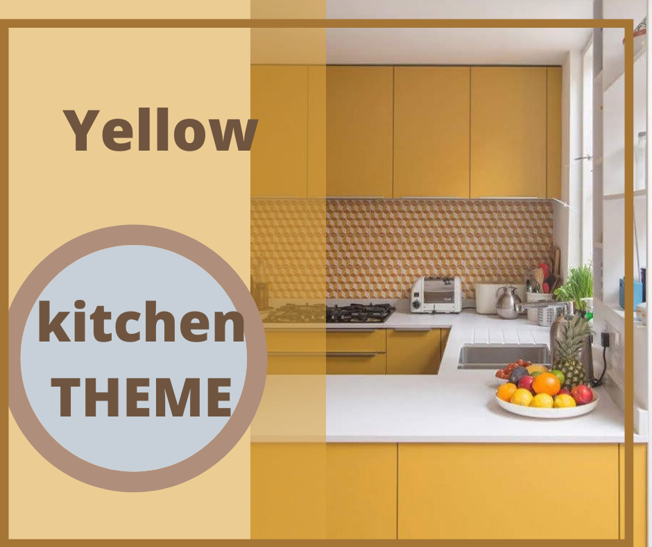 """yellow color kitchen"""